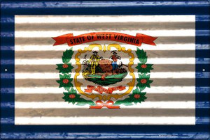 West Virginia Flag Wholesale Novelty Large Parking Sign LGP-2362