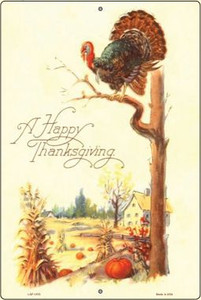 Happy Thanksgiving Vintage Poster Wholesale Large Parking Sign LGP-1870