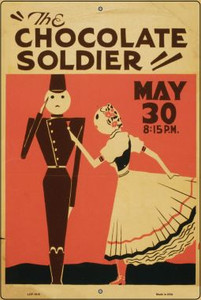 The Chocolate Soldier Vintage Poster Wholesale Large Parking Sign LGP-1915