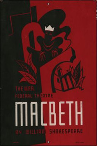 Macbeth by Shakespeare Vintage Poster Wholesale Large Parking Sign LGP-1917