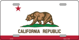 California State Flag Wholesale Metal Novelty License Plate LP-531