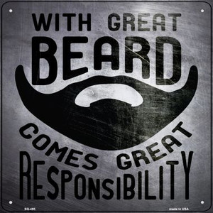 With Great Beard Wholesale Novelty Square Sign SQ-495