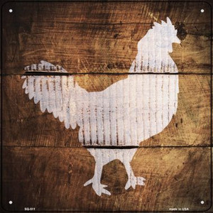 Rooster Painted Stencil Wholesale Novelty Square Sign SQ-511