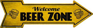 Welcome Beer Zone Wholesale Novelty Metal Arrow Sign A-659