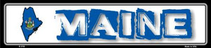 Maine State Outline Wholesale Novelty Metal Vanity Small Street Signs K-318