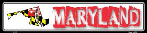 Maryland State Outline Wholesale Novelty Metal Vanity Small Street Signs K-319
