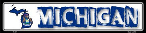 Michigan State Outline Wholesale Novelty Metal Vanity Small Street Signs K-321