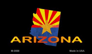 Arizona Outline Flag Wholesale Novelty Metal Magnet M-3558