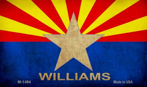 Williams Arizona Flag Wholesale Novelty Metal Magnet M-1494