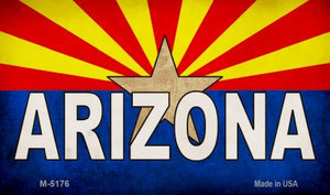 Arizona Flag White Arizona Wholesale Novelty Metal Magnet M-5176
