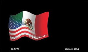Mexican / American Flag Wholesale Novelty Metal Magnet M-5278