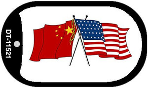 China / USA Flag Wholesale Novelty Metal Dog Tag Necklace DT-11521