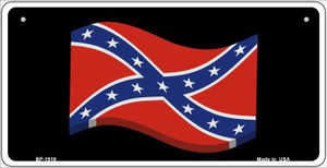 Confederate 3-D Flag Wholesale Novelty Metal Bicycle Plate BP-1919