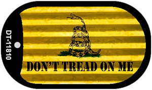 Dont Tread On Me Corrugated Wholesale Novelty Metal Dog Tag Necklace DT-11810