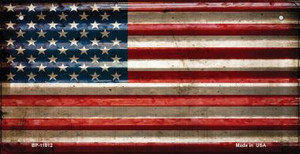 American Flag Corrugated Wholesale Novelty Metal Bicycle Plate BP-11812
