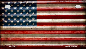 American Flag Corrugated Wholesale Novelty Metal Motorcycle Plate MP-11812