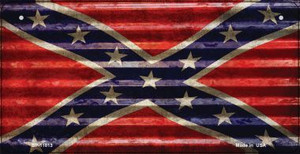 Confederate Flag Corrugated Wholesale Novelty Metal Bicycle Plate BP-11813