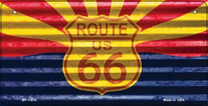 Arizona Route 66 Corrugated Wholesale Novelty Metal Bicycle Plate BP-11814