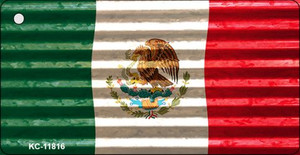 Mexico Flag Corrugated Wholesale Novelty Metal Key Chain KC-11816