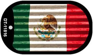 Mexico Flag Corrugated Wholesale Novelty Metal Dog Tag Necklace DT-11816