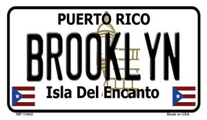 Brooklyn Puerto Rico Wholesale Novelty Metal Motorcycle Plate MP-11642
