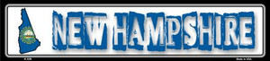 New Hampshire State Outline Wholesale Novelty Metal Vanity Small Street Signs K-328