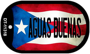 Aguas Buenas Puerto Rico State Flag Wholesale Novelty Metal Dog Tag Necklace DT-11318