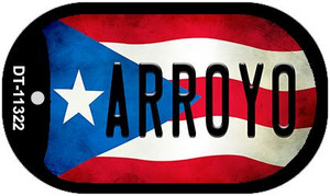 Arroyo Puerto Rico State Flag Wholesale Novelty Metal Dog Tag Necklace DT-11322