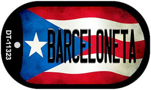 Barceloneta Puerto Rico State Flag Wholesale Novelty Metal Dog Tag Necklace DT-11323