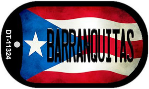 Barranquitas Puerto Rico State Flag Wholesale Novelty Metal Dog Tag Necklace DT-11324