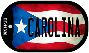 Carolina Puerto Rico State Flag Wholesale Novelty Metal Dog Tag Necklace DT-11330