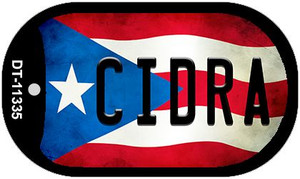 Cidra Puerto Rico State Flag Wholesale Novelty Metal Dog Tag Necklace DT-11335