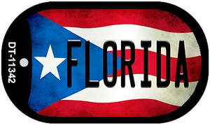 Florida Puerto Rico State Flag Wholesale Novelty Metal Dog Tag Necklace DT-11342