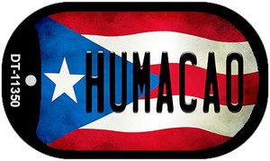 Humaco Puerto Rico State Flag Wholesale Novelty Metal Dog Tag Necklace DT-11350