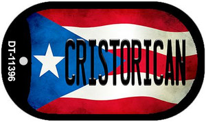 Cristorican Puerto Rico State Flag Wholesale Novelty Metal Dog Tag Necklace DT-11396