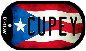Cupey Puerto Rico State Flag Wholesale Novelty Metal Dog Tag Necklace DT-11397
