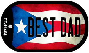 Best Dad Puerto Rico State Flag Wholesale Novelty Metal Dog Tag Necklace DT-11404