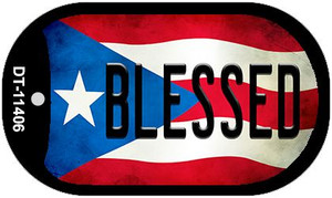 Blessed Puerto Rico State Flag Wholesale Novelty Metal Dog Tag Necklace DT-11406