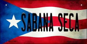 Sabana Seca Puerto Rico State Flag Wholesale Novelty Metal Bicycle Plate BP-11760