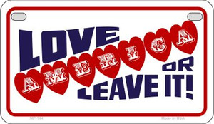 Love America or Leave Wholesale Novelty Metal Motorcycle Plate MP-144