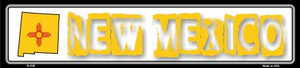 New Mexico State Outline Wholesale Novelty Metal Vanity Small Street Signs K-330
