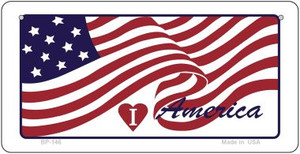 I Love America Wholesale Novelty Metal Bicycle Plate BP-146