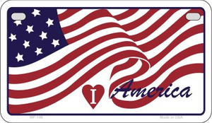 I Love America Wholesale Novelty Metal Motorcycle Plate MP-146