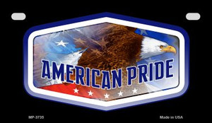 American Eagle Pride Wholesale Novelty Metal Motorcycle Plate MP-3735