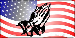American Flag Praying Hands Wholesale Novelty Metal Bicycle Plate BP-1321