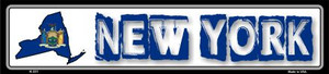 New York State Outline Wholesale Novelty Metal Vanity Small Street Signs K-331