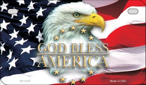 God Bless America Wholesale Novelty Metal Motorcycle Plate MP-5348
