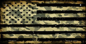 American Camo Flag Wholesale Novelty Metal Bicycle Plate BP-10742