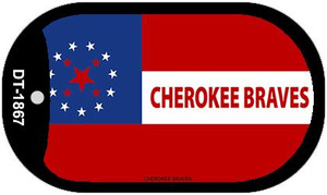 Cherokee Braves Tribe Wholesale Novelty Metal Dog Tag Necklace DT-1867