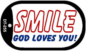 Smile God Loves You Wholesale Novelty Metal Dog Tag Necklace DT-255